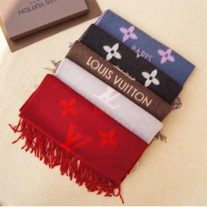 Louis Vuitton上海lv专卖店披肩新款双面羊绒REYKJAVIK 围巾