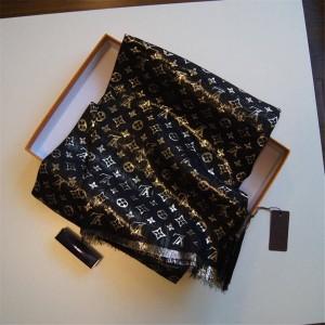 Louis Vuitton LV官网中文版金属绣线真丝MONOGRAM长围巾
