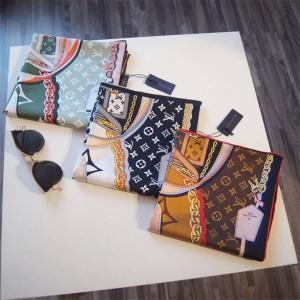 路易威登lv英国官网女士围巾真丝TRIBUTE TO 90厘米方巾丝巾M76202