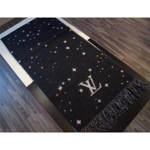 路易威登LV香港官网代购正品新款老花星星羊绒长围巾