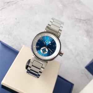 Louis Vuitton/路易威登lv网店女士手表经典钢带石英腕表