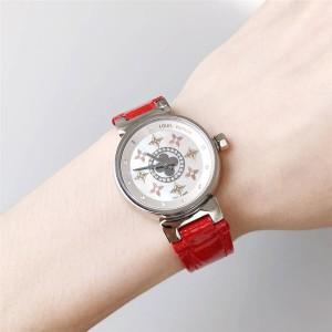 Louis Vuitton/路易威登lv正品旗舰店女士手表鳄鱼纹真皮表带石英腕表