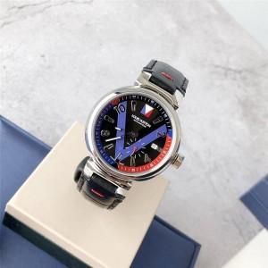 路易威登LV官网中文版新款男士个性时尚手表Tambour Blue Ps机械腕表