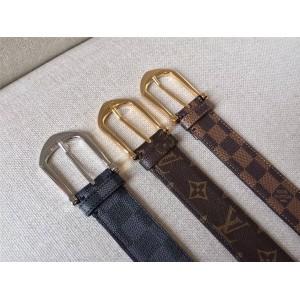 路易威登lv中国官网正品新款男士皮带老花棋盘格RIVETED 腰带35毫米
