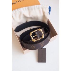 路易威登lv标志图片新款女士皮带MALLETIER MONOGRAM 腰带30毫米M9312U
