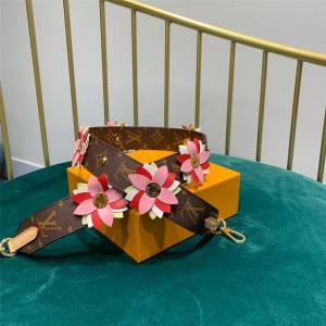 Louis Vuitton lv官方网站花瓣MONOGRAM FLOWERS肩带J02377