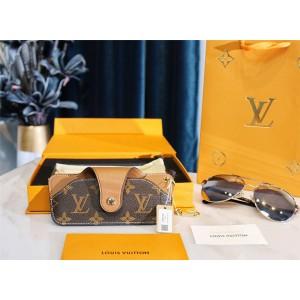 路易威登lv中国官网正品新款老花拼皮眼镜盒保护套