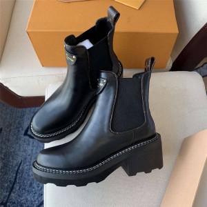 路易威登lv图片新款女靴BEAUBOURG 及踝靴马丁靴短靴1A8947