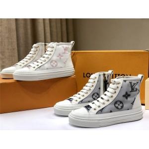 路易威登精仿lv法国新款女鞋STELLAR 高帮运动鞋1A87E2/1A87DM
