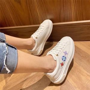 路易威登上海lv专卖店女鞋女士真皮三花TIME OUT 运动鞋