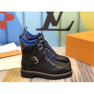 路易威登精仿lv正品新款女靴真皮TERRITORY RANGER 平底靴1A5LQD