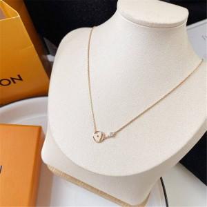 路易威登lv美国官网新款IDYLLE BLOSSOM 18K金爱心吊坠钻石项链