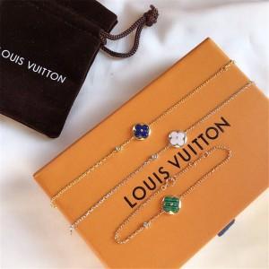 路易威登lv香港官网COLOR BLOSSOM 18K金孔雀石钻石欧珀手链Q95546/Q95676