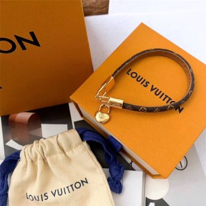 路易威登LV奢侈品购物网站爱心锁头CRAZY IN LOCK 手镯手绳M6451F
