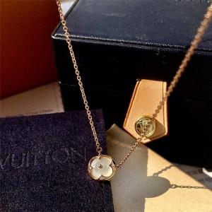 路易威登lv官网中文版贝母圆形COLOR BLOSSOM 18K金贝壳项链