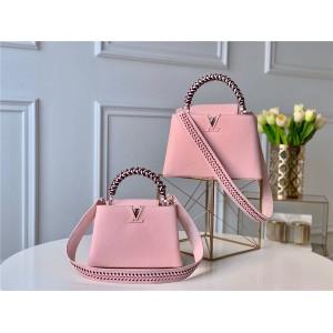 Louis Vuitton lv中国官网女包新款编织手柄CAPUCINES手袋M55236/M55083/M55084