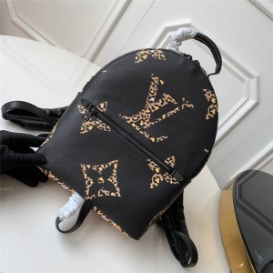 Louis Vuitton lv官网价格女士背包豹纹印花PALM SPRINGS 小号双肩包M44718