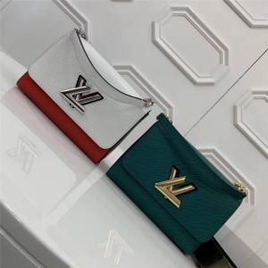 Louis Vuitton lv上海专卖店女包新款水波纹牛皮宽织带Twist中号手袋