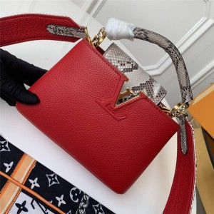 Louis Vuitton lv中国官方网CAPUCINES 迷你手袋N97075/N97074/N97076