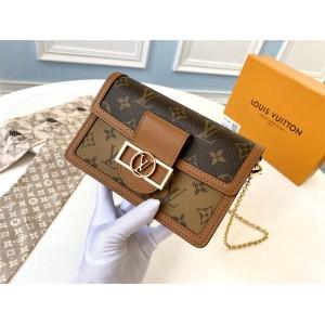 Louis Vuitton lv中国官网女包老花DAUPHINE链条包M68746
