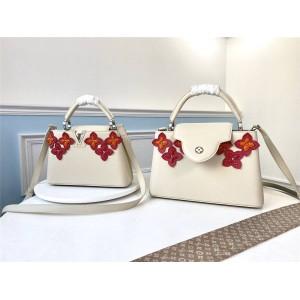Louis Vuitton lv中国官网女包花卉图案CAPUCINES BB手袋M53661