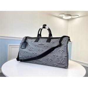 Louis Vuitton lv法国官网男包KEEPALL BANDOULIÈRE 50 双面旅行袋M44939