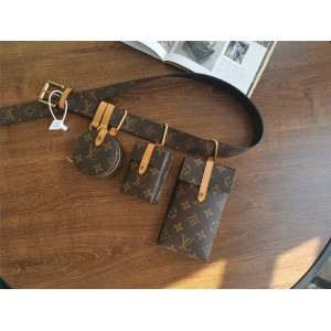 Louis Vuitton LV腰带腰包四件套烟盒零钱包手机壳M68524/M68523/M68522