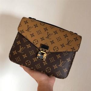 Louis Vuitton LV官网中文版女包老花POCHETTE MÉTIS拼色邮差包M41465