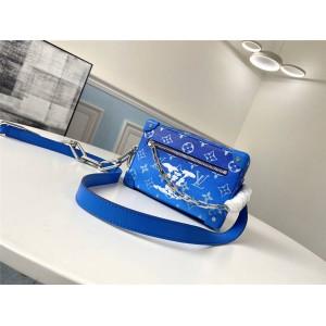 路易威登精仿lv包官网男包新款蓝天白云MINI SOFT TRUNK 手袋盒子包M45433