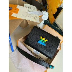 路易威登lv专卖店新款女包水波纹牛皮TWIST 中号手袋M56327