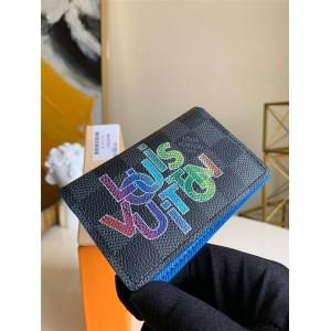 路易威登lv箱包新款男士短款钱包丝印口袋钱夹N60301