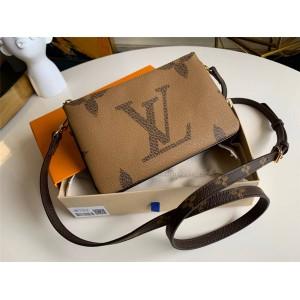 路易威登lv官方网站新款POCHETTE DOUBLE ZIP 肩带钱夹双子包M68762