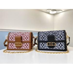 路易威登上海lv专卖店新款女包1854系列DAUPHINE 中号手袋M57211