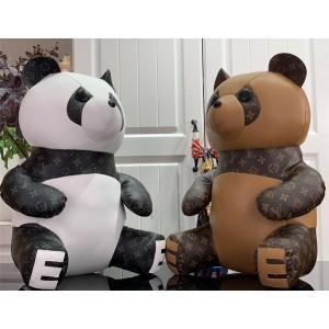 路易威登lv法国官网新款黑白国宝熊猫摆件bear doll熊娃娃系列玩偶公仔