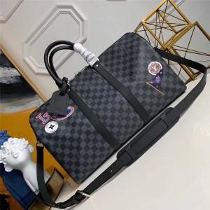 路易威登lv包包图片League系列徽标KEEPALL 45 旅行袋(配肩带)N41057