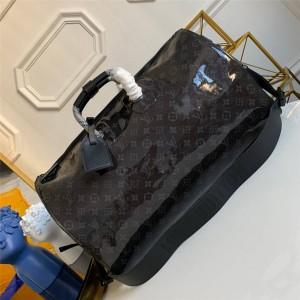路易威登lv英国官网男包老花镭射光面KEEPALL 50 旅行袋M43899