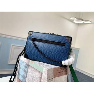 路易威登lv包包价格男包拼色水波纹MINI SOFT TRUNK 手袋盒子包M68721