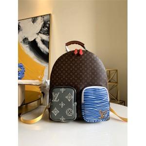 路易威登lv包包价格和图片新款双肩包老花拼色背包M56851