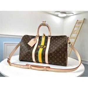 路易威登lv经典款男包Keepall 45旅行袋行李包(定制款)