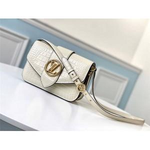 路易威登lv官网女包新款鳄鱼纹皮PONT 9 手袋M98096/M98095
