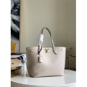 路易威登lv经典款高仿女包全真皮LOCKME GO购物袋M55028