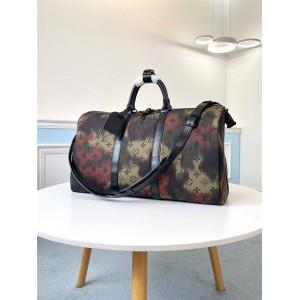 路易威登lv男士包新款迷彩KEEPALL BANDOULIÈRE 50 旅行袋M56416