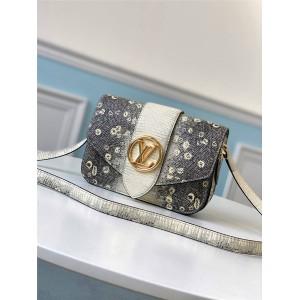 路易威登高仿官网lv中文新款白色蜥蜴纹PONT 9 手袋M55947