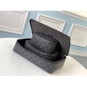 路易威登lv手拿包经典款黑色老花珠宝盒收纳包化妆盒