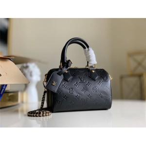 路易威登lv官网女包新款压纹皮革SPEEDY 20 手袋枕头包M42397