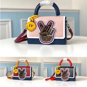 路易威登官网lv正品包包手指TWIST 中号手袋M52514/M52513