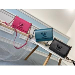 路易威登lv中国官方网站新款水波纹牛皮TWIST 中号手袋M50282