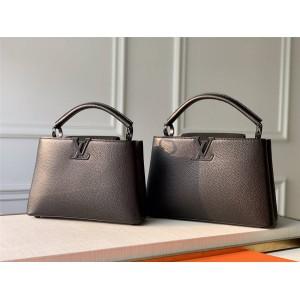 路易威登官网lv上海专卖店新款磨砂五金CAPUCINES BB 手袋M55855
