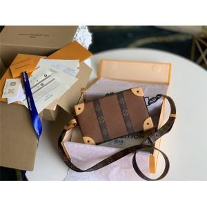 路易威登官网lv包真假男包SOFT TRUNK WALLET 手袋扁盒子包M56322