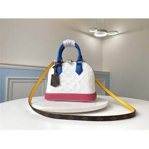 路易威登lv包官方网站压花漆皮拼色ALMA BB 手袋贝壳包M91606